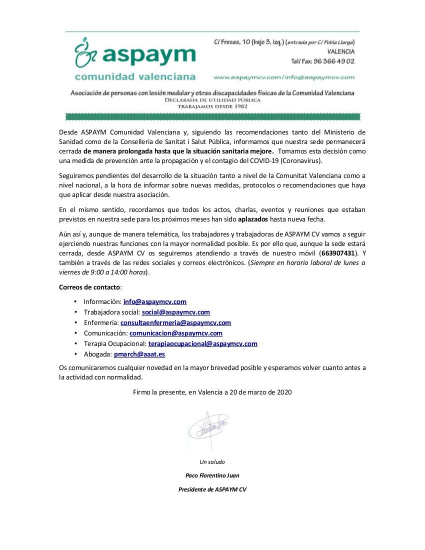 ComunicadoCOVID19